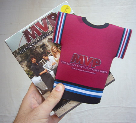 Tiny foam 'MVP' jersey atop a DVD case of almost the same dimensions