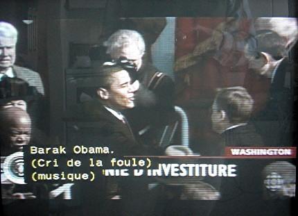 Caption reads, in part, Barak Obama
