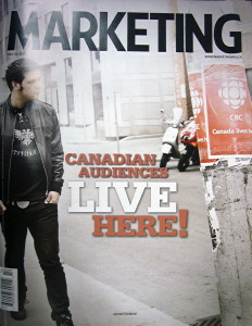 Strombo on cover of 'Marketing'