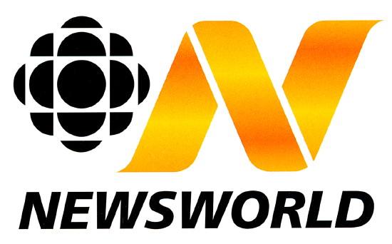 CBC logo alongside wavy orange N. NEWSWORLD