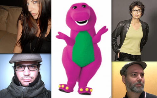Barney, Doug Coupland, Irshad Manji, Matthew Good