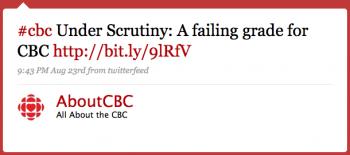 AboutCBC: #cbc Under scrutiny: A failing grade for CBC