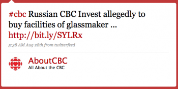 AboutCBC: #cbc Russian CBC Invest allegedly to buy facilities of glassmaker