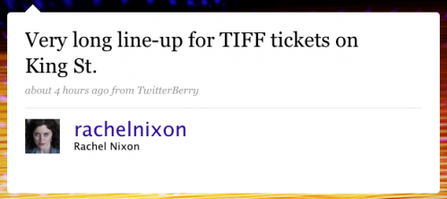 rachelnixon: Very long lineup for TIFF tickets on King St.