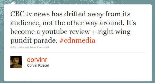 Twitter - Corvin Russell- CBC tv news