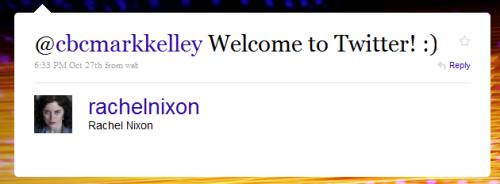 Twitter - Rachel Nixon- @cbcmarkkelley