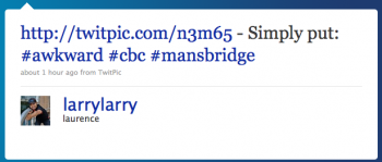 larrylarry: Simply put: #awkward #cbc #mansbridge