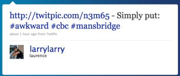 larrylarry: Simply put: #awkward #cbc #mansbridge