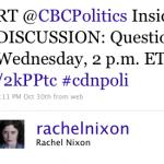 Rachel Nixon goes TWAWOL